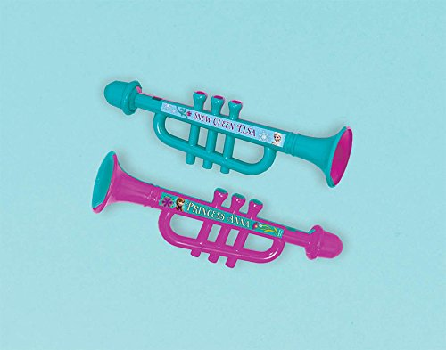 "Amscan Disney Frozen Trumpet Party Favor, Pink/Teal, 6 1/2"" x 2"""