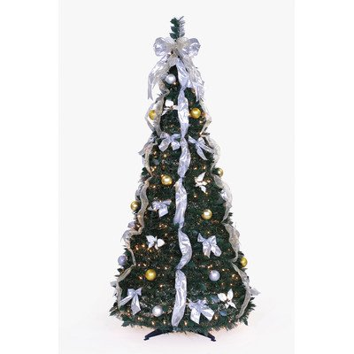 Pop-Up 6' Green Artificial Christmas Tree with 350 Lights