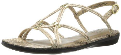 Lifestride Women'S Flirt Gladiator Sandal,Gold,7.5 M Us