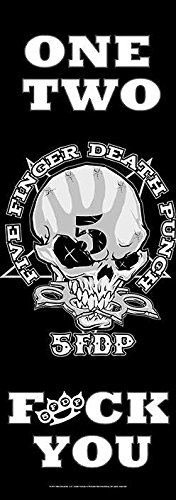 Five Finger Death Punch Poster Bandiera One Two Fuck You