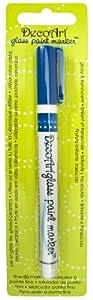 DecoArt Glass Paint Marker, Blue