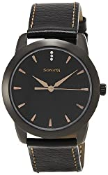 Sonata Analog Black Dial Mens Watch - NF7924NL01