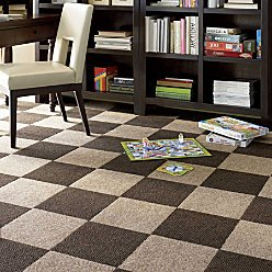 Peel & Stick Carpet Tiles-20 Pieces - GREY SMOKE - Improvements