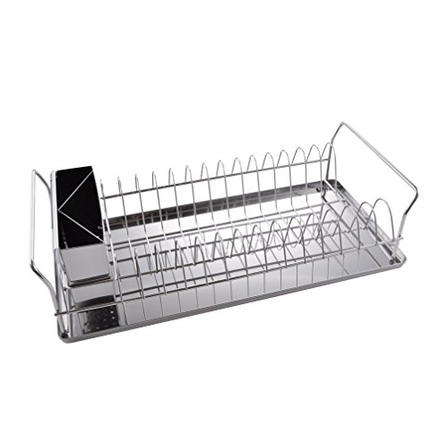KES Stainless Steel Dish Drainer Drying Rack with Removable Tray 17.4