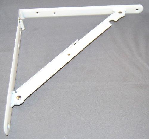 ultra hardware 11030 16 x 16 deluxe heavy duty steel folding shelf bracket ebay. Black Bedroom Furniture Sets. Home Design Ideas