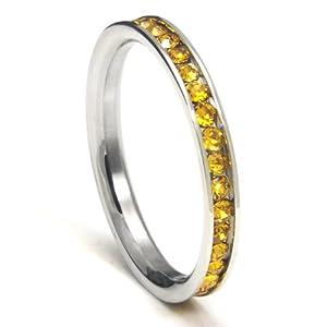 Two Tone Wedding Band 81 Lovely Citrine wedding band ring