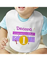Personalized Birthday Baby Bib Whats Your Number