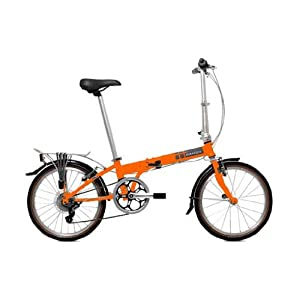 Dahon Speed D7 Folding Bike - Tangerine