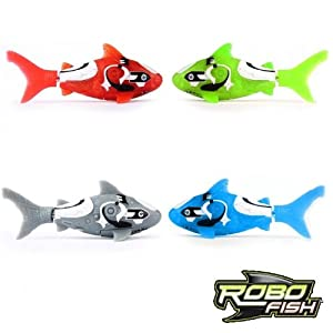 Shark robo fish by zuru set of 4 colours water for Zuru robo fish