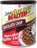 Golden Malted Pancake & Waffle Flour, Chocolate Chip, 16-Ounce Can