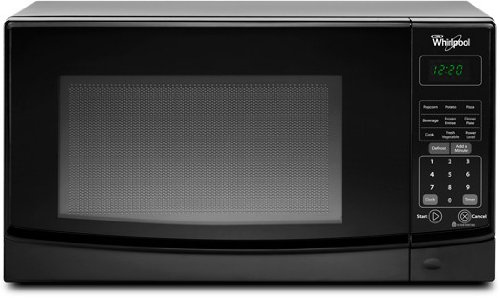 Whirlpool WMC10007AB 0.7 Cu. Ft. Black Countertop Microwave (Auto Microwave compare prices)