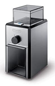 DeLonghi Stainless Steel Burr Coffee Grinder with Grind Selector and Quantity Control by DeLonghi