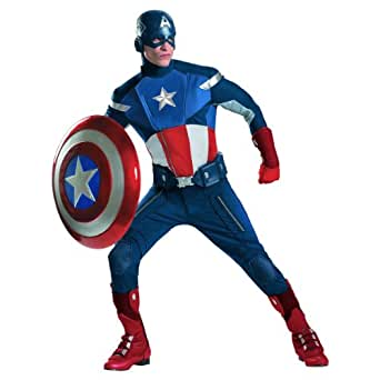 Disguise 43696DI Mens Theatrical Quality Avengers Captain America Costume