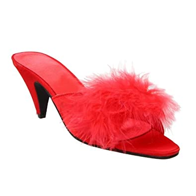 2 5 inch women 39 s lingerie shoes bedroom low - Ladies bedroom slippers with heel ...