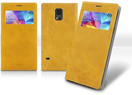 Note3 View Flip Case, Samsung Galaxy Note 3 Soft Leather Cover, 9 Colors - Retail Packaging (Carmel) front-51286