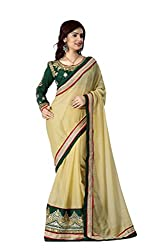Bikaw Embroidered Yellow Chiffon Party Wear Saree - BT-4308-LB