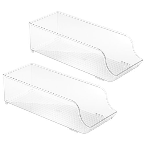 InterDesign Refrigerator and Freezer Storage Organizer Bins for Kitchen, Soda Can Holder, Set of 2, Clear (Coke Can Holder compare prices)
