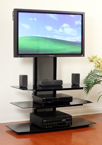 Transdeco tv stand with universal mounting system for 35 for Best 65 inch tv mount
