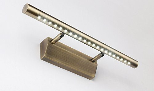 Nexium Vintage Style Bronze Led Bath Vanity Lighting Cabinet Mirror Lighting - Modle: 5532 (Cool White, 5W)