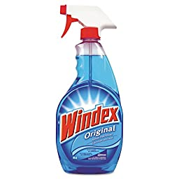 Windex DRK CB201330 Powerized Glass Cleaner with Ammonia-D, 26 oz. Spray Bottle (Pack of 12)