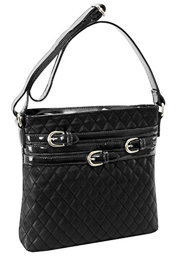 Quilted-Multi-Belt-Adorned-Vertical-Crossbody-Bag-in-Black