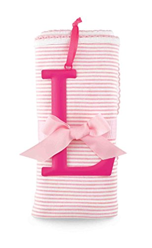 Mud Pie L Cotton Receiving Blanket-Pink