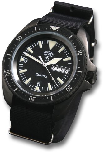 CWC Royal Navy SBS Military Issue Watch, black, with date