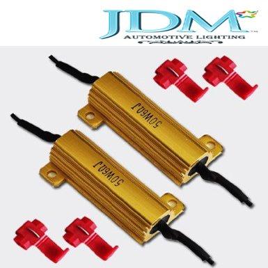 Jdm Astar 50W 6Ohm Led Load Resistors For Led Turn Signal Lights Or Led License Plate Lights (Fix Hyper Flash, Warning Cancellor)