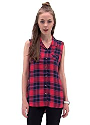 Raindrops Women's Shirt(1194B005B-Red-M)