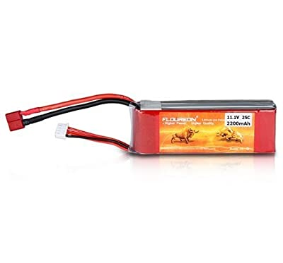 2X 11.1V 2200mAh 3S 25C RC Lipo Battery Deans for RC Helicopter Airplane Hobby