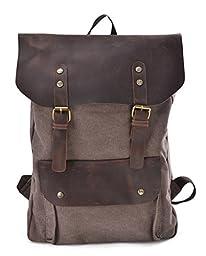 Gootium 30205CF Canvas Full Grain Leather Backpack For 15.6\