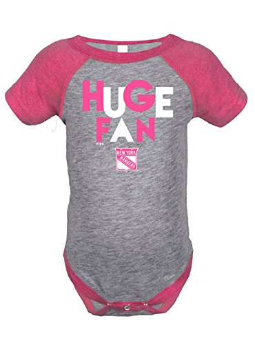 NHL New York Rangers Girls Infant Onesies, 6 Months, Heather Grey/Hot Pink (New York Rangers Girls Pink compare prices)