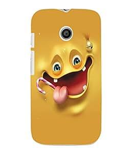 Fuson 3D Printed Cartoon Designer Back Case Cover for Motorola Moto E - D917