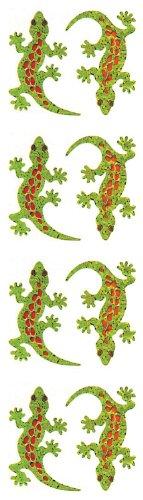Jillson Roberts Prismatic Stickers, Geckos, 12-Sheet Count (S7024)