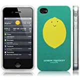 iPhone 4S / iPhone 4 Novelty Character Lemon Squeezy Yellow And Green Image Hard Back Cover / Case / Shell / Shieldby Call Candy