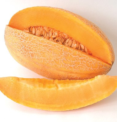 Cantaloupe Sweet Granite D459A (Orange) 25 Organic Seeds By David'S Garden Seeds