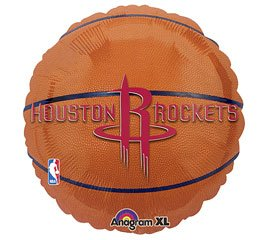 "Anagram International Houston Rockets Flat Party Balloons, 18"", Multicolor"