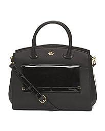 Vince Camuto Karma Shoulder Bag (One Size, Black/Black Patent)