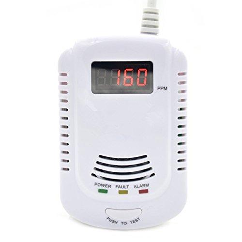 gasmelder gochange rauchmelder alarm detektor mit led display und sprachmeldung erdgas melder. Black Bedroom Furniture Sets. Home Design Ideas
