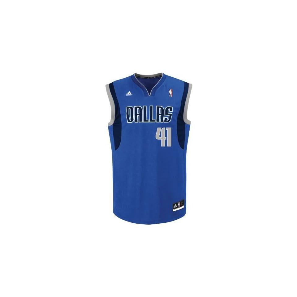 3ca12480d2e adidas Mens Dallas Mavericks Dirk Nowitzki #41 Revolution 30 Replica Jersey