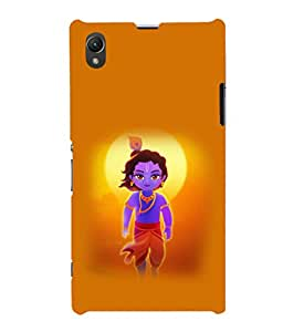 printtech Lord God Krishna Small Cartoon Back Case Cover for Sony Xperia Z1::Sony Xperia Z1 L39h