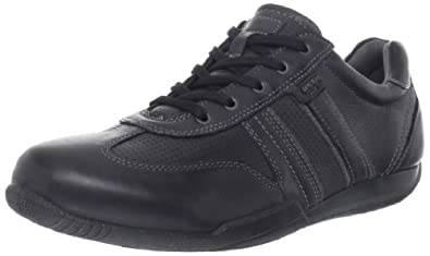 ECCO Men's Summer Sneaker,Black/Dark Shadow,44 EU/10-10.5 M US