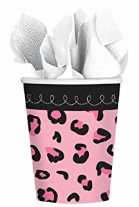 Sweet Safari Girl Cups 9oz Cups (18) Birthday Party Supplies Baby Shower from Amscan