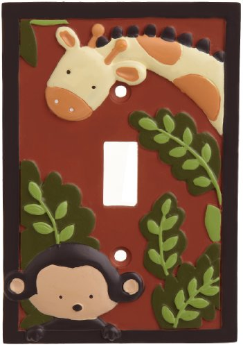 Kids Line Jungle 123 Switch Plate Cover, Brown