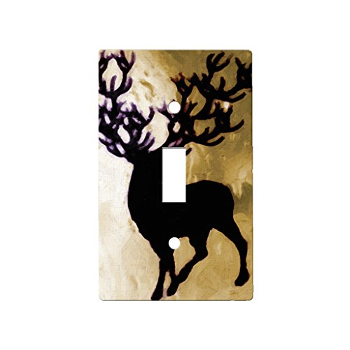 Deer Buck Antlers - Decor Single Switch Plate Cover Metal