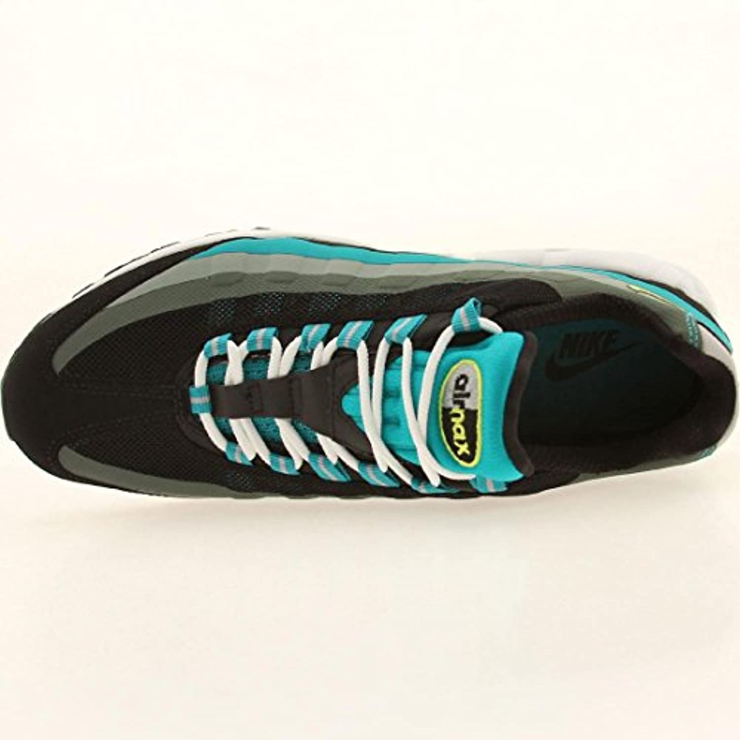 more photos 81329 a6014 ... Nike Air Max 95 No Sew Mens Running Shoes 616190-033 Black Venom Green-  ...