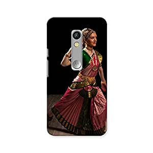 ArtzFolio Indian Classical Dance Bharatanatyam : Motorola Moto X Play Matte Polycarbonate ORIGINAL BRANDED Mobile Cell Phone Protective BACK CASE COVER Protector : BEST DESIGNER Hard Shockproof Scratch-Proof Accessories