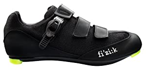 Fizik Men's R5 Uomo Road Cycling Shoes, Black, Size 40