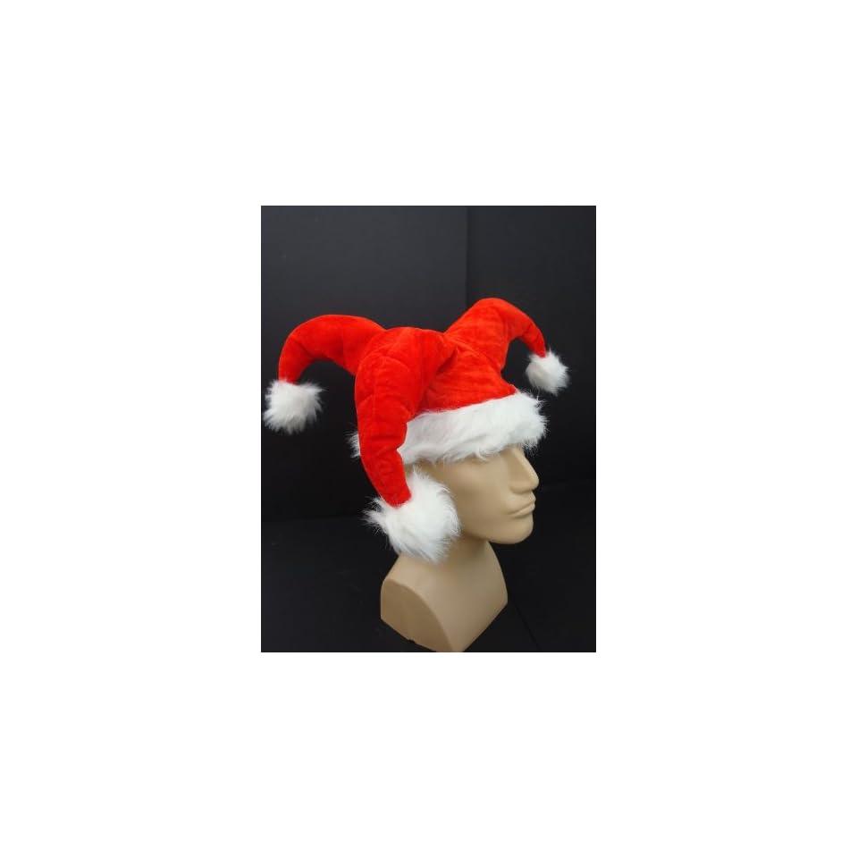 fcf8770390643 Red Velvet Santa Claus Costume Jester Hat Fur Christmas on PopScreen