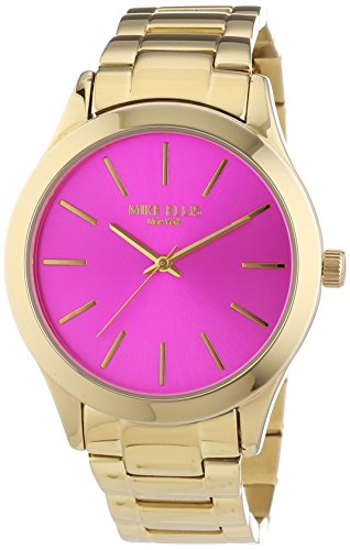 Mike Ellis New York Damen-Armbanduhr Golden Eye Analog Quarz Edelstahl beschichtet SL4-50123